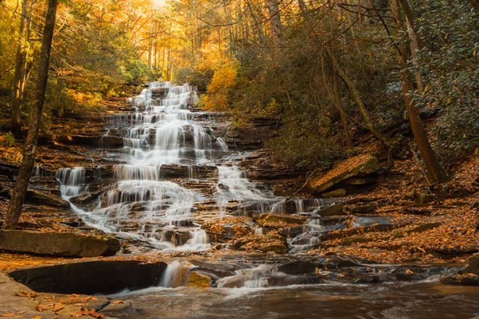 You make springs pour water into the ravines, so streams gush down from the mountains [Ps 104:10]